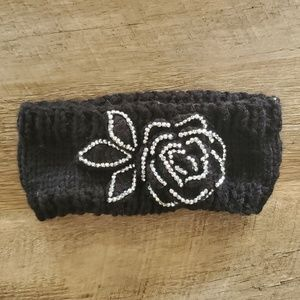 Accessories - NWOT - Cable Knit Ear Warmer w/Rhinestones